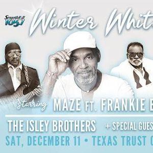 Maze featuring Frankie Beverly Winter White Party Grand Prairie TX.
