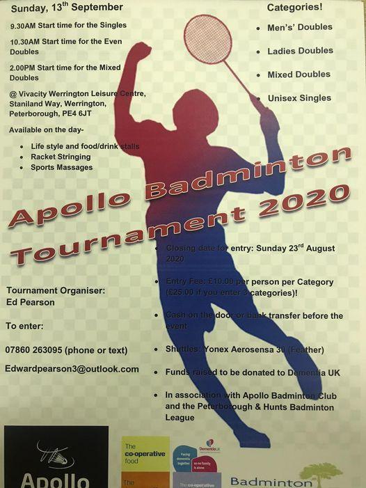 Apollo Badminton Club, 23 May | Event in Peterborough | AllEvents.in