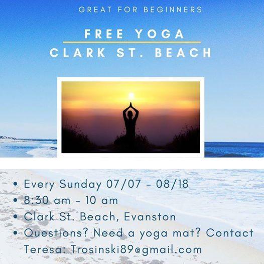 Free Yoga - Clark St  Beach at Clark Beach In Evanston, Evanston