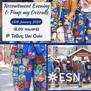 Recruitment Evening & Pimp my Overalls