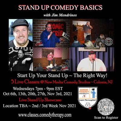 Stand Up Comedy Basics with Jim Mendrinos   Live Class & Grad Show