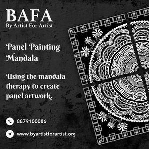 Panel Painting Mandala online workshop with BAFA