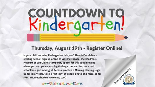 Countdown to Kindergarten, 19 August | Event in Eau Claire | AllEvents.in