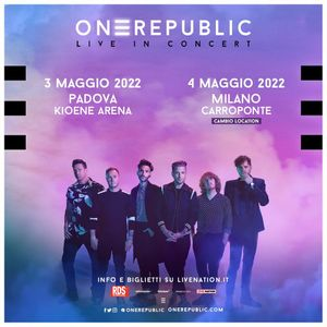 OneRepublic live a Milano  30 ottobre 2020