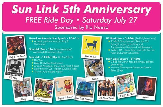 Sun Link 5th Anniversary - Free Ride Day at Tucson Streetcar