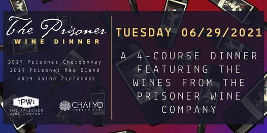 The Prisoner Wine Dinner at Chai Yo Modern Thai, 29 June   Event in Atlanta   AllEvents.in