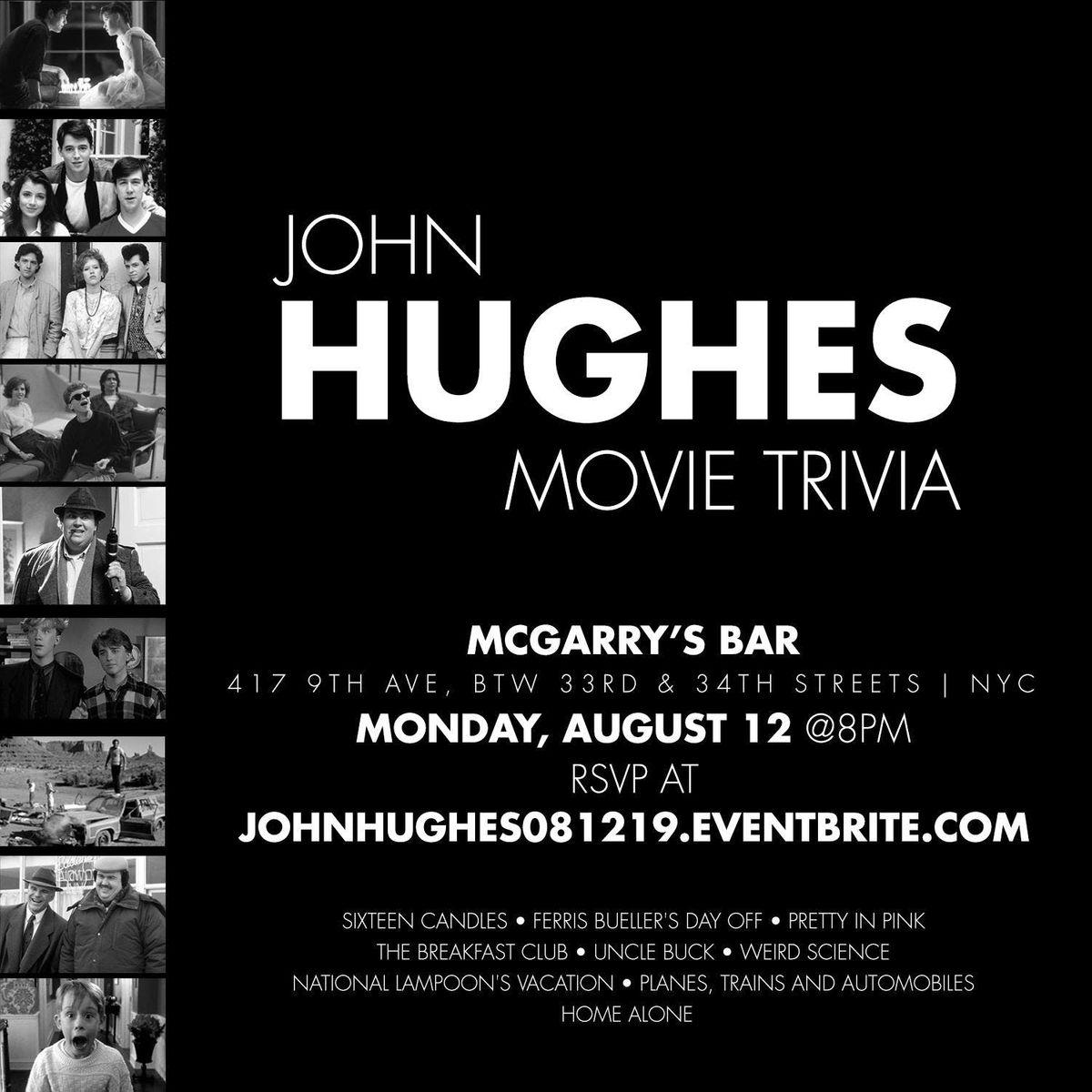 John Hughes Movie Trivia at McGarry's, New York City