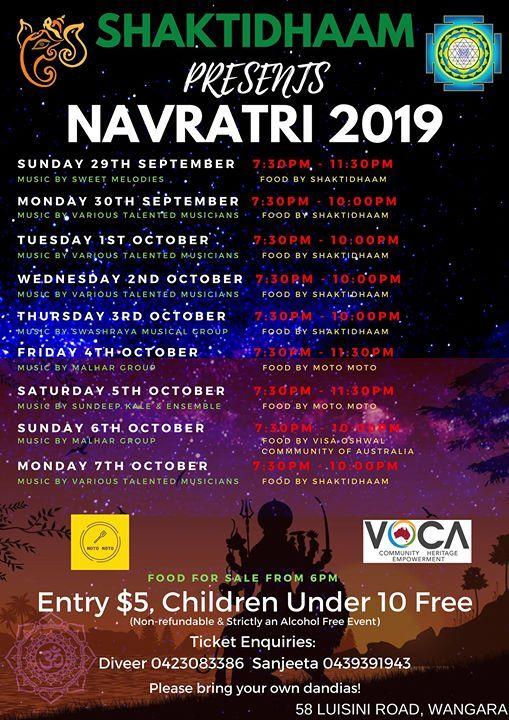 Nine Nights of Navratri 2019