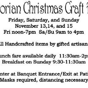 Victorian Christmas Craft Fair El Cajon Elks 14 November