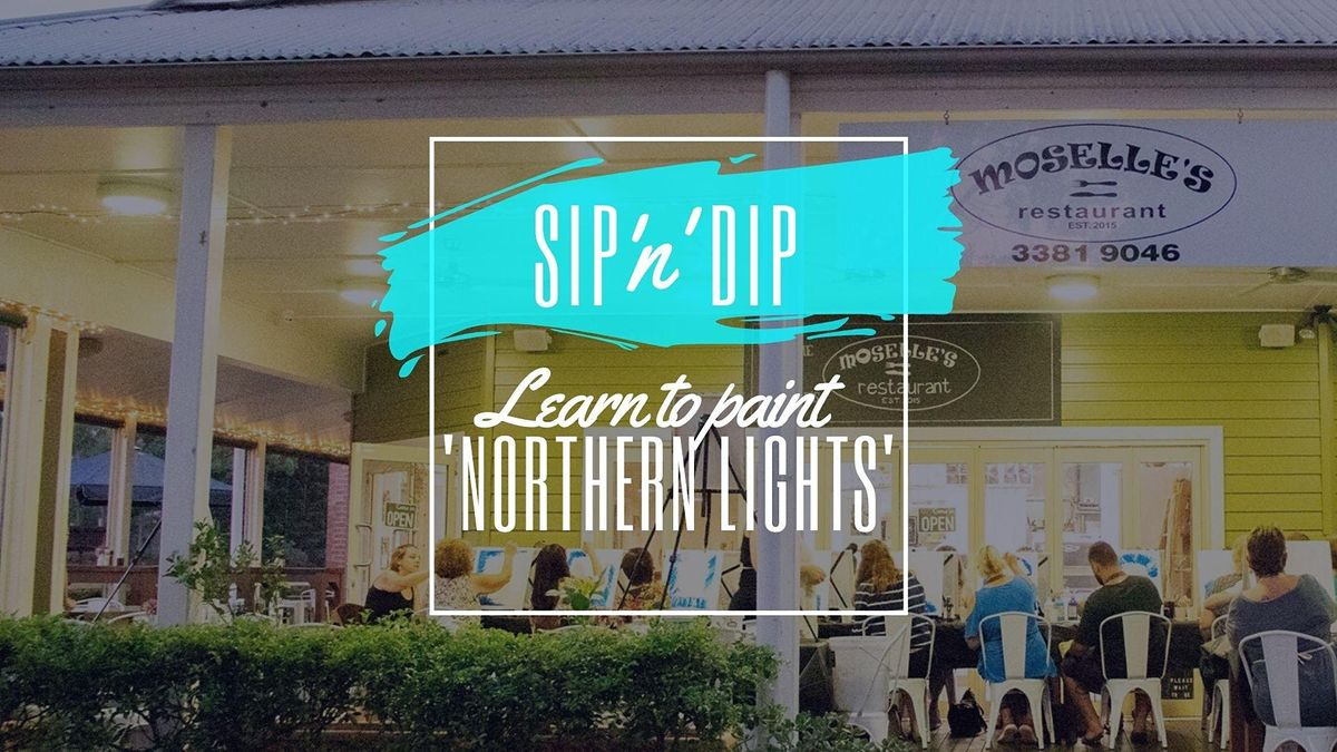 Moselles Springfield - Sip n learn to paint Northern Lights