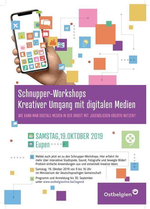 Schnupper-Workshops Kreativer Umgang mit digitalen Medien