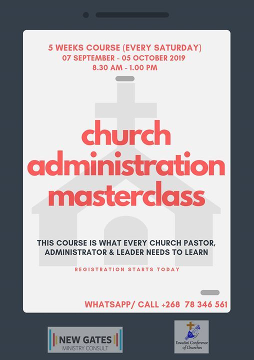 Church Administration Masterclass at ALCON Business Centre