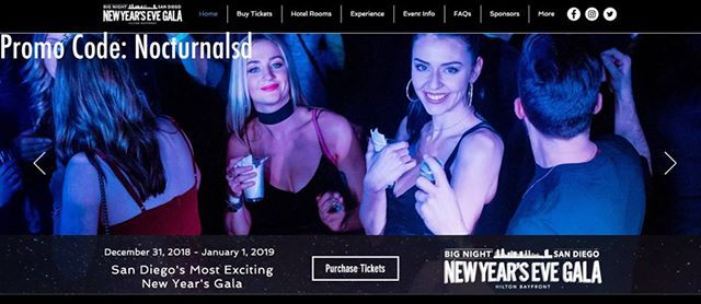 Big Night NYE 2020 Promotional Code San Diego Tickets