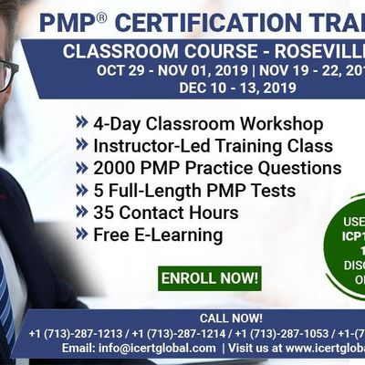 PMP Certification Training Course in Roseville MN USA  4-Day PMP Boot Camp with PMI Membership and PMP Exam Fees Included