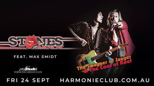 Canberra - Rolling Stones Tribute 'Stones to the Max' at German Harmonie Club, 24 September   Event in Canberra