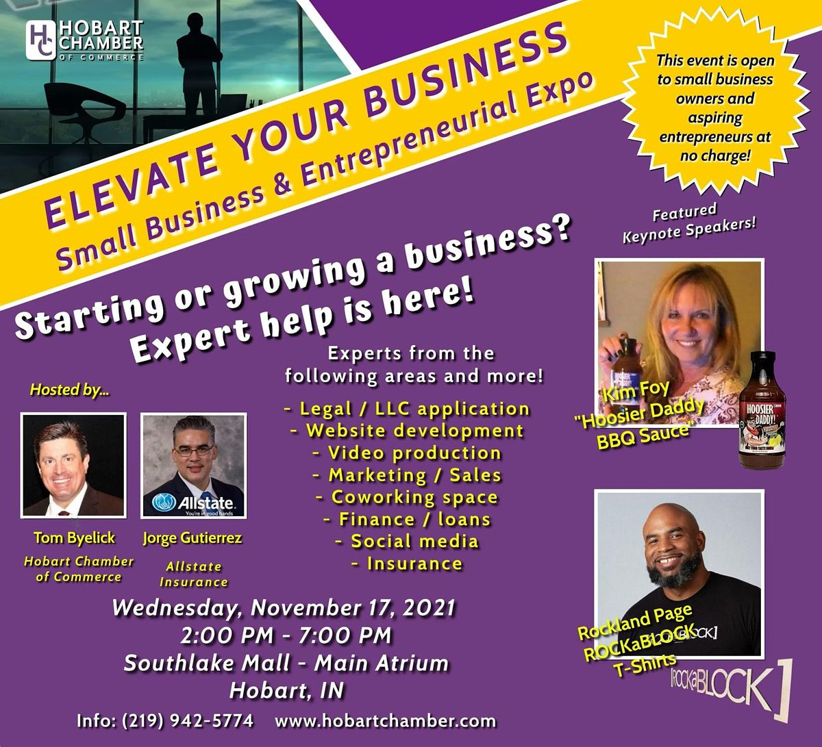 ELEVATE Your Business! Exhibitor Registration, 17 November | Event in Merrillville | AllEvents.in
