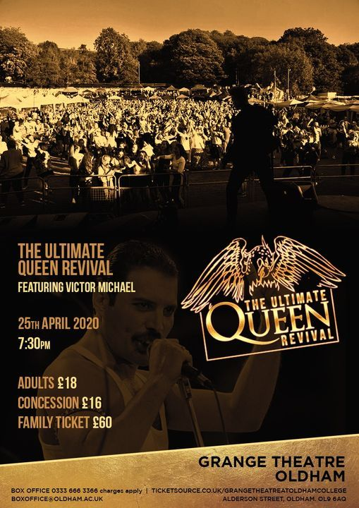 The Ultimate Queen Revival - Featuring Victor Michael, 20 February | Event in Oldham | AllEvents.in