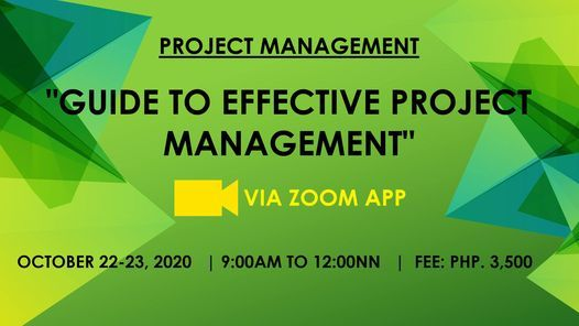 Guide to Effective Project Management, 22 October | Online Event | AllEvents.in