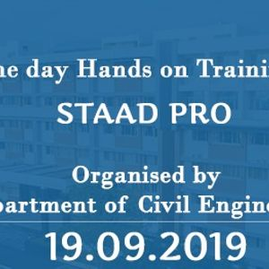 """One day Hands on Training on &quotStaad Pro"""""""