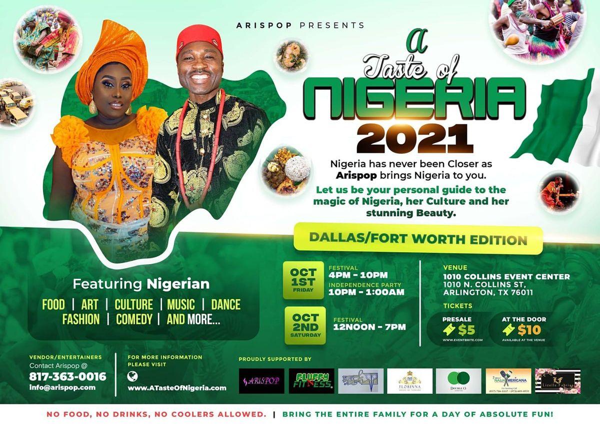 A Taste of Nigeria Festival - Dallas Fort Worth, 1 October | Event in Arlington | AllEvents.in