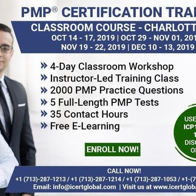 PMP Certification Training Course in Charlotte NC USA.