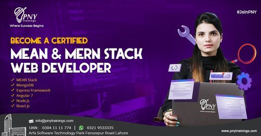 Become a Certified Mean & Mern Stack Web Developer, 27 July | Event in Lahore | AllEvents.in