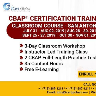 CBAP- (Certified Business Analysis Professional) Certification Training Course in San Antonio TX USA.