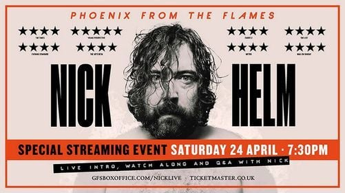 Nick Helm: Phoenix from the Flames Live Stream, 24 April | Event in Croydon | AllEvents.in
