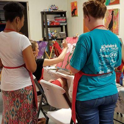 Paint and Sip Friday Events at Carolina Creative Expressions