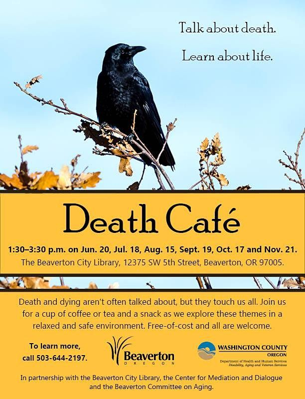 Beaverton Death Cafe - Virtual | Online Event | AllEvents.in