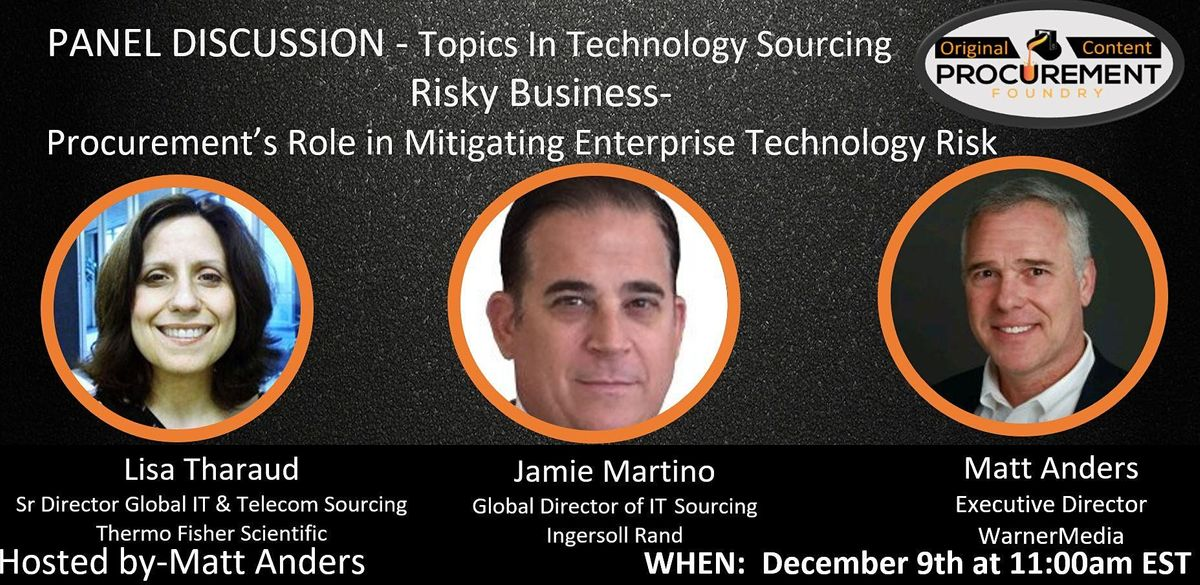 Topics In Technology Series - Risky Business, 9 December | Online Event | AllEvents.in