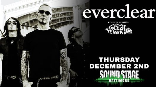 Everclear w/ The Great Heights Band at Baltimore Soundstage Dec 2nd, 2 December | Event in Baltimore | AllEvents.in