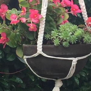 Macram plantenhanger maken