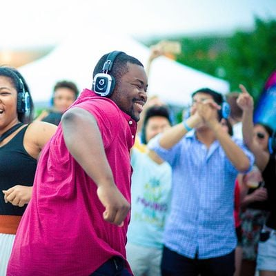 All Ages Silent Disco Party at Downtown Container Park