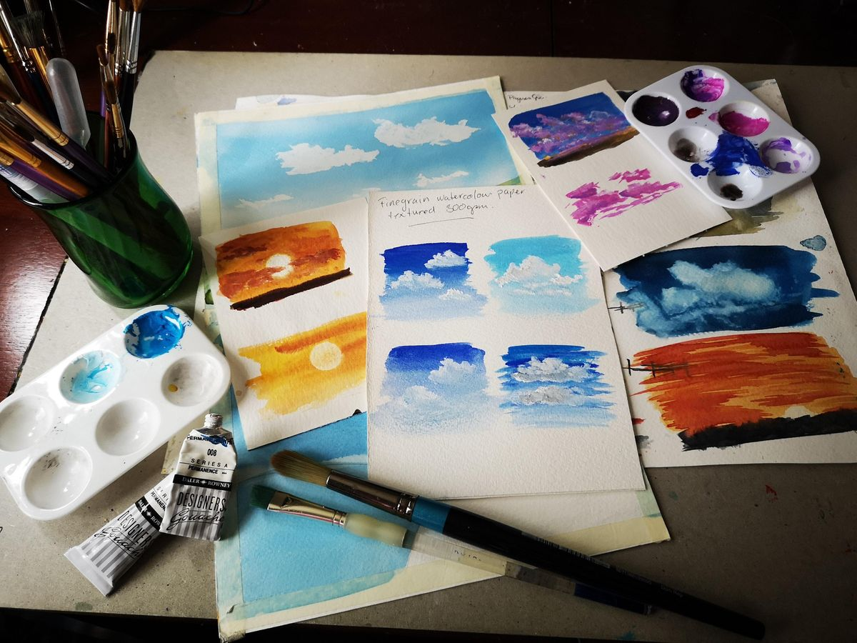 Painting Skies using Watercolours and Gouache, 20 February | Event in Woking | AllEvents.in