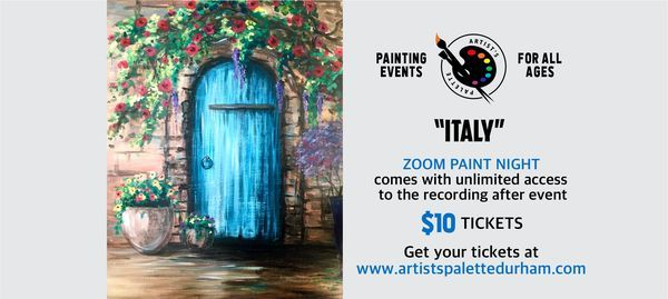 """Italy"" - Paint Night on Zoom, 16 May 