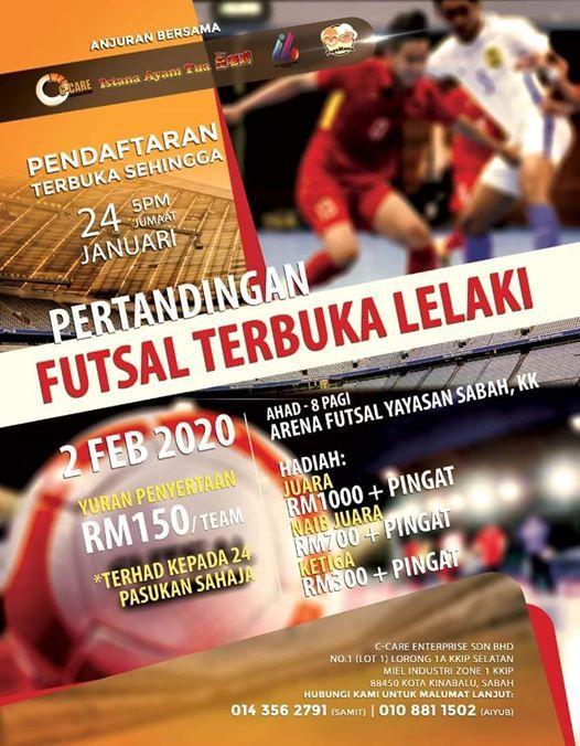 Kejohanan Futsal Anjuran C Care Enterprise Sdn Bhd Sun Feb 02 2020 At 08 00 Am