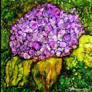Learn to Paint a Hydrangea in Alcohol Ink with Debbie Grogen