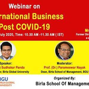 Webinar on international business post covid-19
