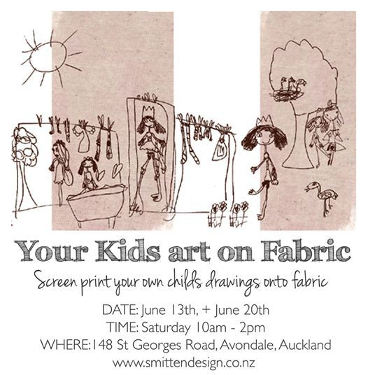 Screen print your Childrens art on fabric
