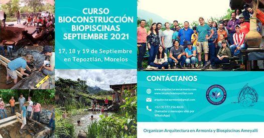 Curso de Bioconstrucción Biopiscinas Septiembre 2021, 17 September   Event in Cuernavaca   AllEvents.in