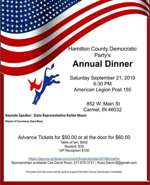 Hamilton County Democratic Party - 2019 Annual Dinner at