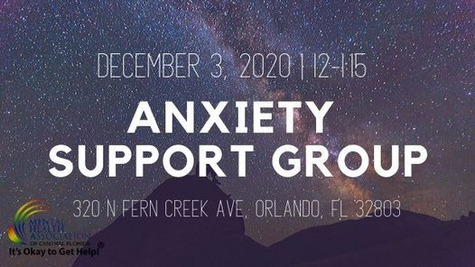 Anxiety Support Group, 3 December | Event in Orlando | AllEvents.in