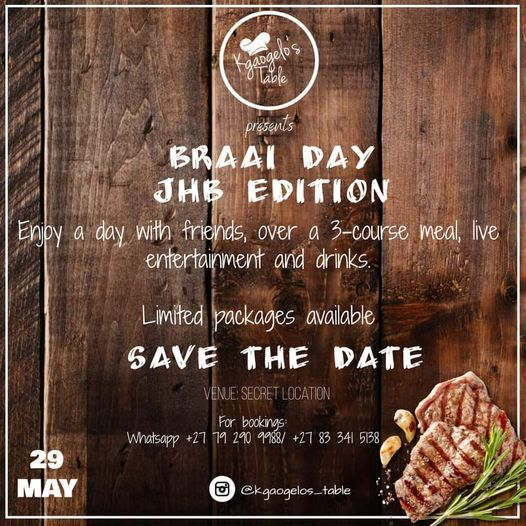 Braai Day - Jhb Edition, 29 May | Event in Johannesburg | AllEvents.in