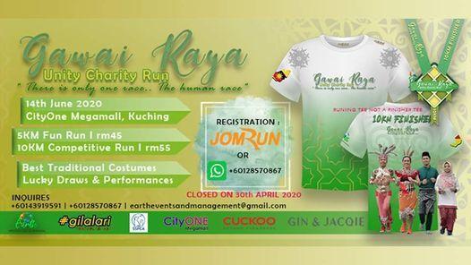 Gawai Raya Unity Charity Run, 23 May   Event in Kuching   AllEvents.in