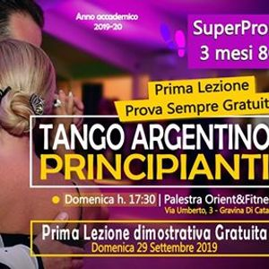 Corso Principianti Tango Argentino a Gravina di CT dal 2909