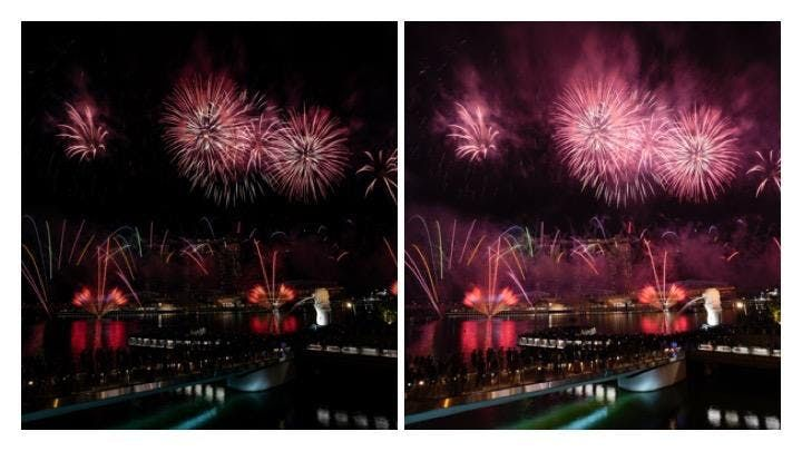 NDP 2019 Fireworks - remove excessive smoke from your
