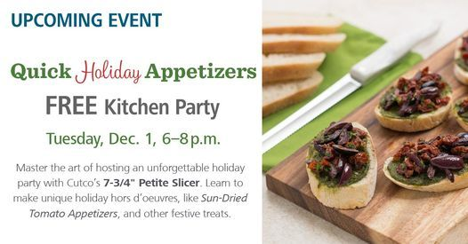 Free Kitchen Party - Quick Holiday Appetizers, 1 December | Event in North Wales | AllEvents.in