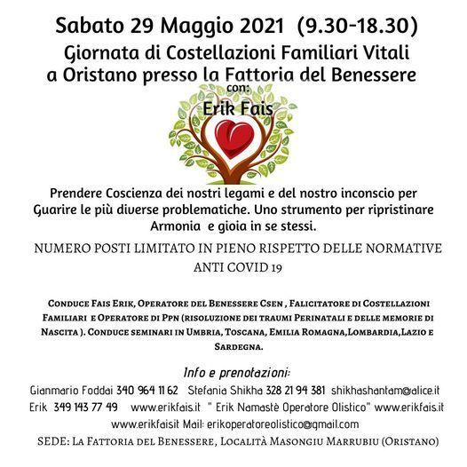 Giornata di Costellazioni Familiari Vitali a Oristano con Erik Fais, 29 May | Event in Oristano | AllEvents.in