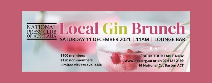 Local Gin Brunch, 11 December | Event in Canberra | AllEvents.in